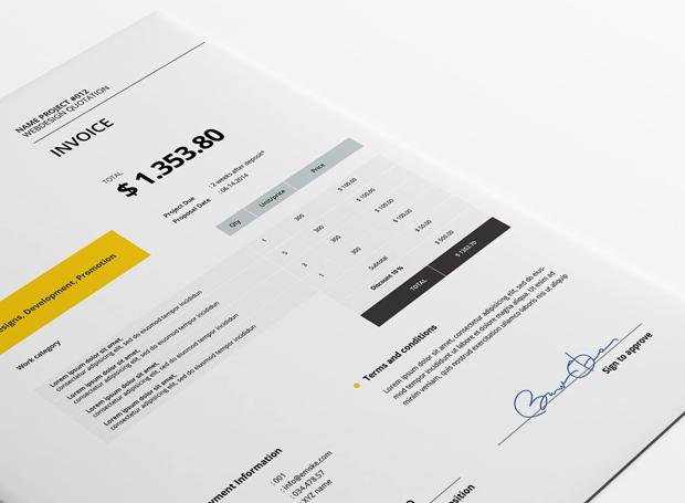 creative invoice template psd xlsx