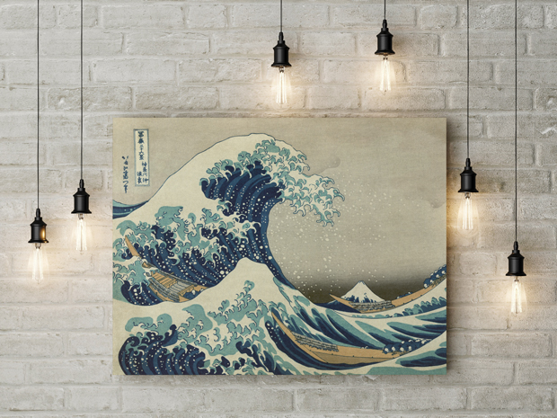Painting The Great Wave Off Kanagawa